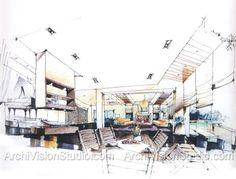 interior architectural sketch - Google'da Ara