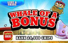 ☆☆☆ Whale Of A Bonus ☆☆☆ Get A Little Action In > https://apps.facebook.com/slotbuster?utm_source=fanpage&utm_medium=WhaleOfABonus&utm_campaign=4292016&bonusPackId=15501 < Click For Chips