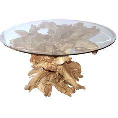 Table basse racine de teck 90cm http meuble - Table teck exterieur ...