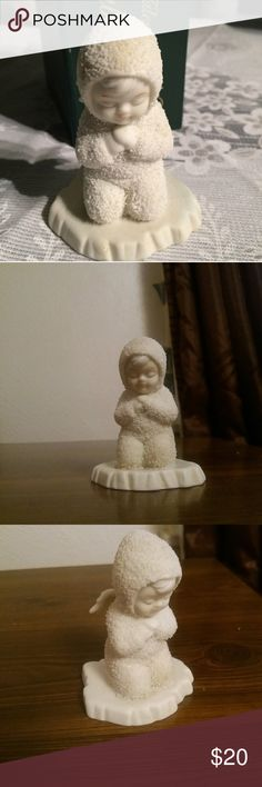 """Dept 56 """"Now I Lay Me Down to Sleep"""" Retired vintage Dept 56 Winter Tales of the Snowbabies """"Now I Lay Me Down to Sleep"""".  Very sweet Snowbaby kneeling in prayer  3 1/2"""" tall. Other"""