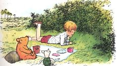 """...Christopher Robin finished the mouthful he was eating and said carelessly: """"I saw a Heffalump to-day, Piglet."""""""