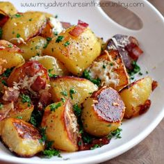 Oven-roasted, melt-in-your-mouth potatoes  http://thegardeningcook.com/potato-recipes/