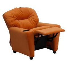 @Overstock - Your children will love sitting in this comfortable kids recliner with cup holder. It features brightly colored microfiber upholstery, and is generously padded for snug support. Sitting in their own recliner will make your kids feel all grown up.http://www.overstock.com/Home-Garden/Contemporary-Orange-Microfiber-Kids-Recliner-with-Cup-Holder/6702492/product.html?CID=214117 $94.11
