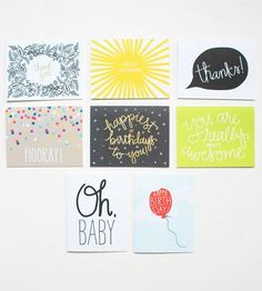 Greeting Card Assortment by Puddleduck Paper Co. on Scoutmob Shoppe #Stationary #CustomStamp #NoteCards
