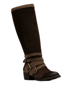 Love this Cocoa Santa Fe Extra Wide-Calf Leather Boot on #zulily! #zulilyfinds