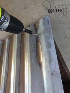 DIY Corrugated Metal Awning - Shanty 2 Chic