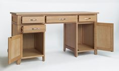 Sherwood Oak Double Pedestal Desk