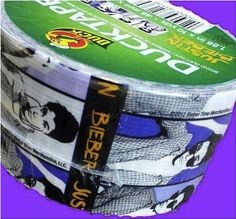 Duck Tape now offers Justin Bieber theme. Maybe he can use some to tape off areas around bedroom door so the marijuana smoke stays in his own room....