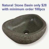 River stone basin with only 28uss