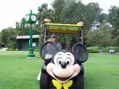Amanda in the Mickey's Golf Cart   Flickr - Photo Sharing!
