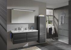 idées salle de bain - Recherche Google Modern Bathroom Design, Home Improvement Projects, Double Vanity, Small Bathroom, Sweet Home, Mirror, Furniture, Home Decor, Leroy Merlin