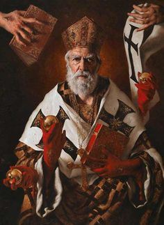 Yesterday was the feast of Saint Nicholas. (December The great popularity of St. Nicholas in both the East and the West is proved by the… Catholic Catechism, Catholic Art, Catholic Saints, Religious Art, Renaissance Kunst, Goth Art, Saint Nicholas, Sacred Art, Christian Art
