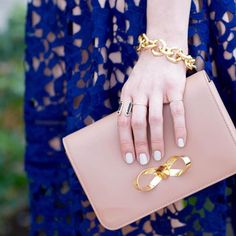 Kicking off the long weekend in our Gold Mary Links Bracelet and Molly Ring à la @hannahhagler. #baublebar #baublebabes