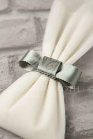Μένη Ρογκότη - Μπομπονιέρες γάμου σε κλασικό ύφος από τούλι με σατέν φιόγκο σε υπέροχα χρώματα Christening, Wedding Favors, Birthday Gifts, Tulle, Gift Wrapping, Bride, Anna, Ideas, Diy
