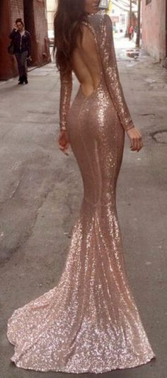 Rose Gold Mermaid Gown