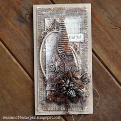 Mezzanotteskapar- Mixed Media made by Katja: Rusty Christmas Chrismas Cards, Create Christmas Cards, Christmas Mix, Christmas Labels, Christmas Crafts For Gifts, Xmas Cards, Christmas Projects, Handmade Christmas, Decoration Inspiration