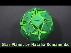 ▶ #45 Kusudama Star Planet & Stellar Flare by Natalia Romanenko - Yakomoga Origami tutorial - YouTube