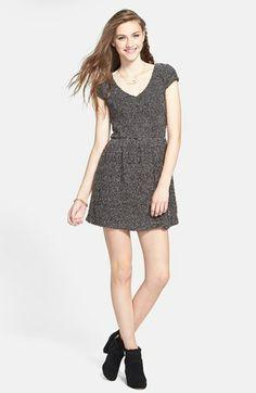 Socialite Textured Skater Dress (Juniors) available at #Nordstrom