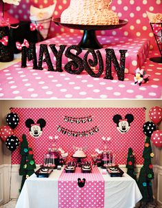 Pink Polka Dot MINNIE Mouse 5th Birthday Party