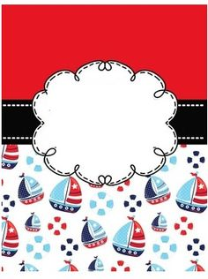 Nautical Banner, Nautical Party, School Binder Covers, Sailor Theme, Baby Stickers, Digital Photo Frame, Baby Invitations, Classroom Themes, Baby Cards