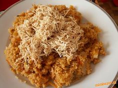 Kuskus se zeleninou a Tofu Vegetable Recipes, Tofu, Macaroni And Cheese, Rice, Grains, Vegetables, Cooking, Ethnic Recipes, Diets