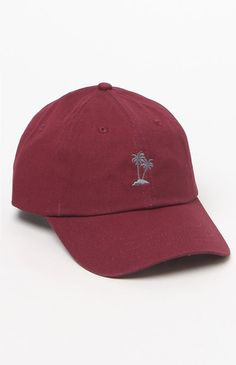 b461461be27 Court Palm Tree Strapback Dad Hat Embroidered Hats