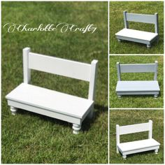 The bench is handcrafted made from wood. The bench is available for toddlers and big kids. The legs may vary depending on the size. The bed is the perfect gift for anyone who may own a doll. This little bed will provide hours of fun. The listing is for the bench only and does not include the access