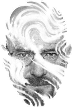 Sublime Illustrations by Boris Pelcer - Walter White Portrait Illustration, Character Illustration, Fun Illustration, Creative Pictures, Art Pictures, Photos, Fanart, Walter White, Artist Portfolio