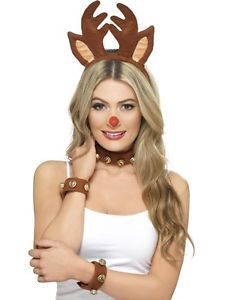 fancy dress christmas costumes Brown Reindeer Women Adult Halloween Headband Costume Accessory - One Size Sexy Christmas Outfit, Christmas Fancy Dress, Christmas Christmas, Pin Up, Antler Headband, Reindeer Antlers, Reindeer Ears, Reindeer Craft, Xmas