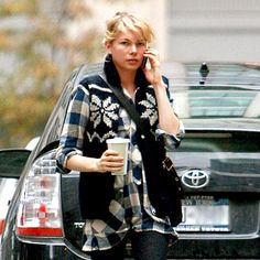 adorable michelle williams and coffee