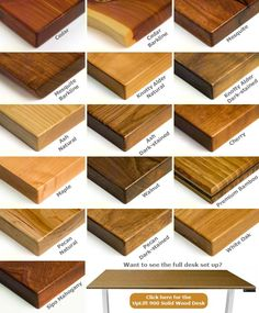 Can't decide which solid wood finish to get? Our Solid Wood Sample Kit lets you see each one in person before deciding