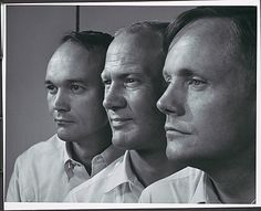 The Apollo 11 crew Collins, Aldrin, and Armstrong. My grandfather was a computer programmer for the apollo 11 aircraft