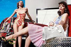 Natasha Poly, Guinevere van Seenus, Elise Crombez, Meghan Collison, Katryn Kruger & Ymre Stiekema for Prada Spring 2012 Campaign by Steven Meisel