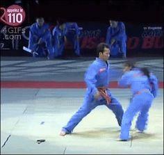 Funny Gifs ~ amazing karate kick takedown