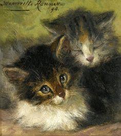 Two Kittens Henriette Ronner-Knip