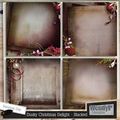 Dusky Christmas Delight - Stacked Papers :: Papers :: Memory Scraps