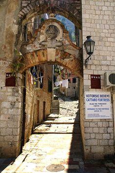 Kotor Archway in Montenegro Montenegro Budva, Montenegro Travel, Albania, Ex Yougoslavie, Bosnia Y Herzegovina, Les Balkans, Sailing Trips, Southern Europe, World Photography