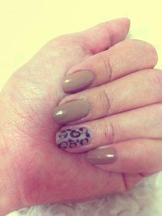 me♡ #nail #leopard