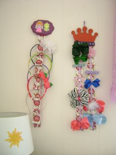 Accessory holders for princess room