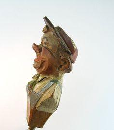 Anri Vintage Corkscrew Carved Wood Man Hat by bohemiantrading, $33.00