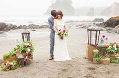 vibrant morning beach elopement inspiration shot by Olivia Leigh Photography