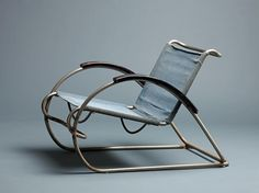 Erich Diekmann, armchair 8219, 1931. Chromed tubular steel frame with solid steel stretchers. Made by Cebaso Stahlrohrmöbel, Ohrdruf, Thüringen, Germany.
