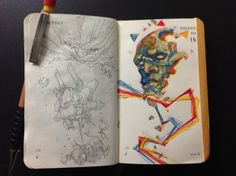 Numbers 135 and 136 of Kenneth Rocafort's 365 day sketch project (2014).