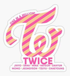Twice Kpop stickers featuring millions of original designs created by independent artists. 4 sizes available. Pop Stickers, Printable Stickers, Logo Sticker, Sticker Design, K Pop, Logo Twice, Kpop Logos, Candy Logo, Twice Fanart