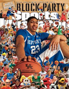 On the Cover: Anthony Davis, College Basketball, Kentucky Wildcats  Photographed by: Al Tielemans / SI