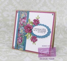 A card I created using @CraftersCompUS Floral Delight range!  Love the beautiful colors!