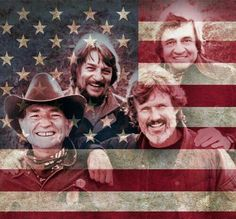 Jennings, Cash, Nelson, and Kristofferson! The Fab Four of Country Music, The Highwaymen!! Very Cool!!