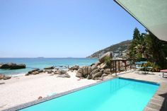 "Critcal criteria for high short term rental income in Cape Town"" Cape Town Accommodation, Holiday Accommodation, Cape Town Holidays, Clifton Beach, Beach Bungalows, Beach Villa, Luxury Holidays, Swimming Pools, Ocean"