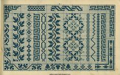 Free Easy Cross, Pattern Maker, PCStitch Charts + Free Historic Old Pattern Books: Alphabete und Muster zum Wäschezeichnen und Sticken 1