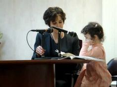 Cy's first talk - SO precious! Jehovah's Witnesses have what is called a Ministry School. Men, Women, and Children learn how to use the Bible to back up their faith. This little girl has joined the School, which means she understands enough to give a presentation to someone.